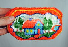 Vintage Seed Bead Native American Pouch. $9.00, via Etsy.