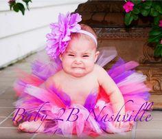 Baby First Birthday Tutu in purple birthday bash colors First Birthday Tutu, Purple Birthday, Birthday Bash, Princess Face, Little Princess, Tutu Cakes, Toddler Christmas Dress, Dance All Day, Toddler Tutu