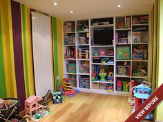 PLAYROOM STORAGE IDEAS | Garage Conversion in to a childrens playroom