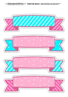 Best 12 Top of Paper Cake to Print Several Free Templates – My Best Partys – SkillOfKing. Printable Labels, Printable Stickers, Cute Stickers, Planner Stickers, Printables, Unicorn Birthday, Unicorn Party, Decoration Communion, Lol Doll Cake