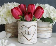 Image result for vases with baby formula cans