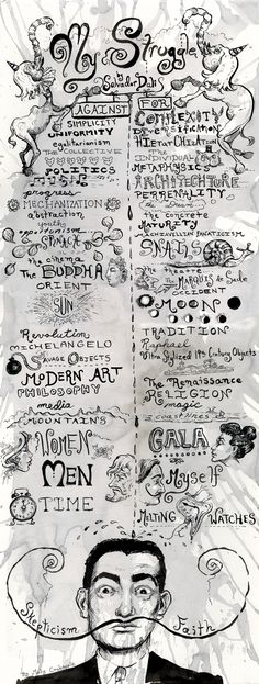 my struggle: salvador dalí's creative credo - iIllustrated by molly crabapple, 2012