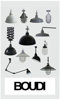 Iconic Industrial Lighting - authentic vitreous enamel.