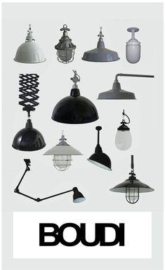 Iconic Industrial Lighting - authentic vitreous enamel.
