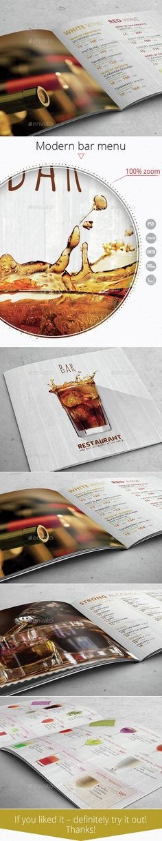 3 In 1 Bar Drink Menu Template Menu templates, Bar drinks and - bar menu template