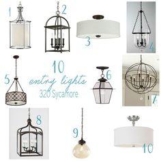 10 entry light ideas