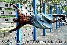 And NO, he's not swinging. This is pure insane strength. Check out the Bartendaz & Hannibal for King. A-MAZ-ING!