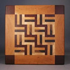 amish square end grain cutting board