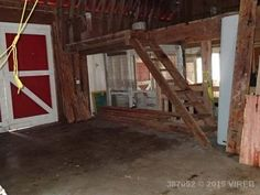 Right side of barn where the horse stalls will go