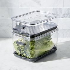 Shop Progressive ® Produce Keepers, Set of Keep produce fresh and crispy up to two times longer with our set of produce storage containers. Produce Storage, Food Storage Containers, Crate And Barrel, Kitchen Utensil Storage, Pantry Storage, Kitchen Utensils, Strawberry Huller, Plastic Crates, Refrigerator Organization