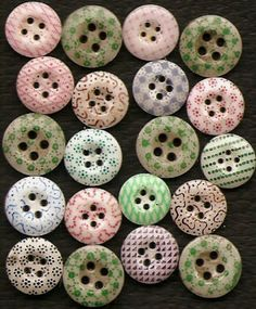 Calico China Buttons