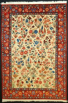 Isfahan tapete, design Serafian, tapetes persas