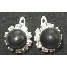 """Earrings is made of light metal with shungite stone - """"Smeana""""."""