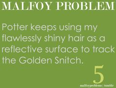 tricky little Potter. perfect little malfoy