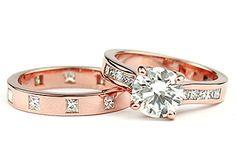 I LOVE the rose gold sooo much!!! custom-made rose gold wedding ring