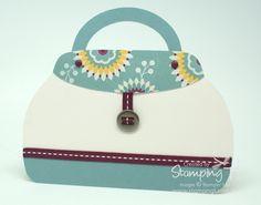 Stampin' Up! Stamping T! Stylish Handbag Card - Baja Breeze