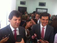 Haddad e Chalita na posse do peemedebista como secretário da Educação (Foto: Tatiana Santiago/G1)