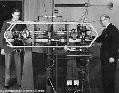 The 1955 Cesium Atomic Clock at the National Physical Laboratory, UK. It kept time to a second in 300 years.