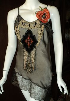 Bellasoiree Original Opium custom silk camisole by Bellasoiree, $525.00