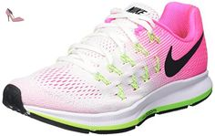 new arrival ace4c ed25a Nike Air Zoom Pegasus 33, Chaussures de Running Compétition Femme,  Multicolore (White Black Pink Blast Electric Green), 38 EU - Chaussures nike  ...