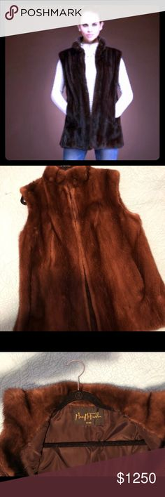 Mink Fur Vest by Mary McFadden Exceptional Classic Mink Fur Vest by Mary McFadden - Excellent Condition. One Size fits all. Retails for $2,995. Mary McFadden Jackets & Coats Vests