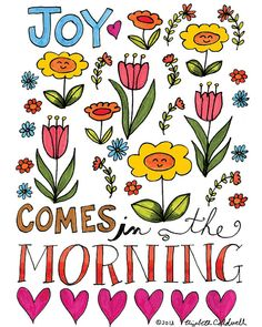Joy Comes in the Morning  8 x 10 Print by ecdesign on Etsy, $16.00