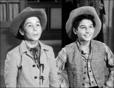 Johnny Crawford and Bobby Crawford - together on The Rifleman