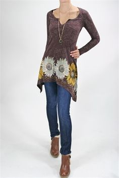 I bought this tunic to wear with skinny jeans and leggings.