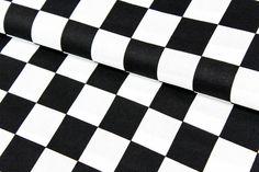 Kinderstoffe - Baumwolle - Zielflagge - Schachbrett - schw/weiß - ein Designerstück von Brittschens bei DaWanda