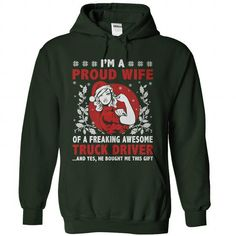 Proud Truck Drivers Wife T Shirts, Hoodies. Check price ==► https://www.sunfrog.com/LifeStyle/Proud-Truck-Drivers-Wife-Forest-Hoodie.html?41382