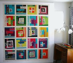 modern quilt....oh I really love everything about this!