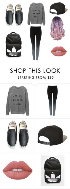 """so yeah my first polivore pic"" by omaha-magcon-fangirl on Polyvore featuring Label Lab, Vans, Brixton, Lime Crime, adidas and chill"
