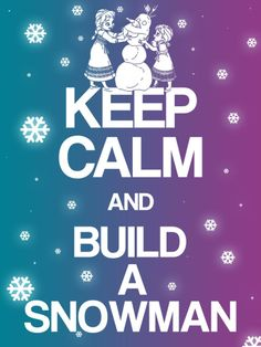 "Keep Calm and build a snowman - Project Life Disney Filler Card - Scrapbooking. ~~~~~~~~~ Size: 3x4"" @ 300 dpi. This card is **Personal use only - NOT for sale/resale** Logos/clipart belong to Disney. Inspired by Frozen. Font is Coolvetica http://www.dafont.com/coolvetica.font ***"