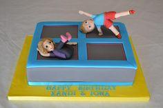 Xandi and Iona's Trampoline cake                              …