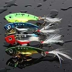 Sougayilang Spinner Spoon Swimbait Freshwater Saltwater Fishing Tackle Lures and Baits Pack of 4pcs - MIX  http://fishingrodsreelsandgear.com/product/sougayilang-spinner-spoon-swimbait-freshwater-saltwater-fishing-tackle-lures-and-baits-pack-of-4pcs/?attribute_pa_color=mix  4pcs/lot, four colors spinner spoon fishing lures with feather, features vivid fishing lures, sharp hooks, ,which makes it the powerful fishing catching seduction and it is a metal blade lure that has an i #FishingTackle