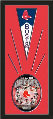 Boston Red Sox Wool Felt Mini Pennant & Boston Red Sox All Time Greats Composite Photo - Framed With Team Color Double Matting In A Quality Black Frame-Awesome & Beautiful-Must For A Championship Team Fan! Most NFL, MLB, NBA, Teams Available-Plz Mention In Gift Message If Need A different Team Art and More, Davenport, IA http://www.amazon.com/dp/B00HYWMLBI/ref=cm_sw_r_pi_dp_i4AEub0M1F194