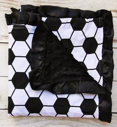 Soccer Dimple Minky Blanket