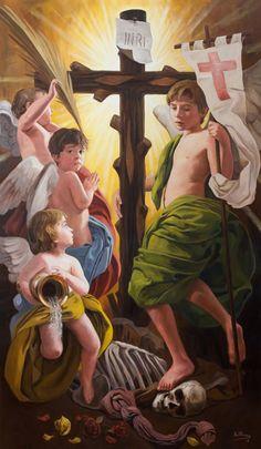 ::RAÚL BERZOSA pinta Triunfo de la Cruz sobre la muerte (Málaga).