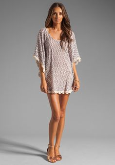 EBERJEY Tribal Goddess Clara Cover Up in Driftwood at Revolve Clothing - Free Shipping!