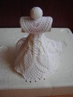 Velký anděl Crochet Angels, Crochet Hats, Snowflakes, Christmas, Pattern, Accessories, Christening, Crocheting, Knitting Hats