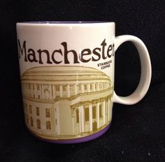 Starbucks Manchester Mug Central Library England UK Purple Icon USA Ship #Starbucks