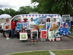 Marching Books in the Westerville 4th of July Parade #costumes #easy #books- I'm in here too!! I am the Elephant and Piggy Book!!!!