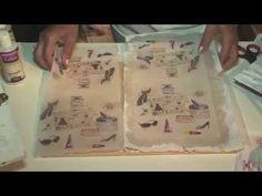 Como entelar servilletas - Producto En Tela de Monitor - Ana Maria Paravic - YouTube