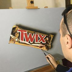 Hyper-realistic Illustrations Twix by Marcello Barenghi #art #illustration