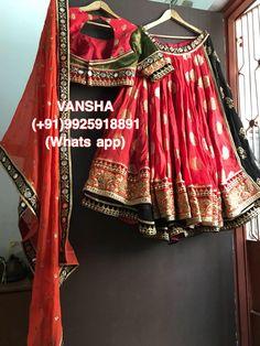 #online #shopping by #whatsapp #lehenga #padmavat #dipika #vansha #disha_joshipura #choli #lehenga #trending Half Saree Designs, Lehenga Designs, Blouse Designs, Chaniya Choli Designer, Designer Bridal Lehenga, Indian Wedding Outfits, Indian Outfits, Indian Dress Up, Navratri Dress
