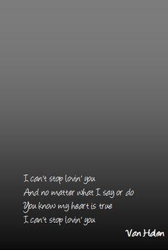 i can't stop loving you van halen
