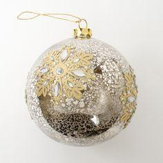 Mercury Glass Ball Ornament Price $19.00