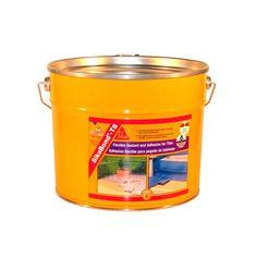 SikaBond®-T8 - Adhesivo elástico e impermeable para pegado de baldosas. Bidón de 5 litros. Material World, Compost, Construction Materials, Tiles, Adhesive, Raincoat, Composters