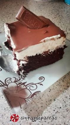 Pastry Recipes, Sweets Recipes, Real Food Recipes, Greek Sweets, Greek Desserts, Homemade Sweets, Homemade Cakes, Chocolate Sweets, Icebox Cake