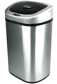 7. Nine Stars Stainless Steel Trash Can, 21.1-Gallon